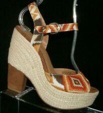 Seychelles Current fabric Ikat print espadrille sandal platform wedge heels 6