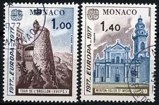 Monaco 1977 SG#1302-3 Europa, Views Cto Used Set #D40645