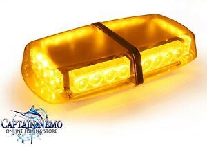 LARGE AMBER 24 LED MAGNETIC FLASHING LED LIGHT WARNING SECURITY EMERGENCY LED012