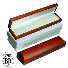 BJC® Natural Mahogany Bracelet / Watch Box Wooden Wood Jewellery Gift Box £49
