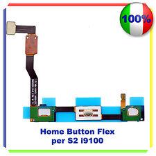 RICAMBIO HOME BUTTON FLEX CABLE PULSANTE TASTO per Samsung Galaxy S2 i9100
