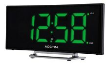 Acctim Sierra Stylish Curved Jumbo Green LED Dual twin Alarm Clock : 15003