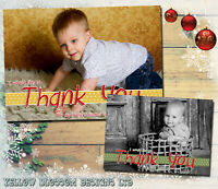 Bundle Of 10 Personalised Christmas Thank You Cards Pack + Envelopes Blanks Xmas