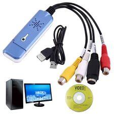 USB 2.0 Video Capture Card Converter Audio Video Grabber Adapter TV Tuner---