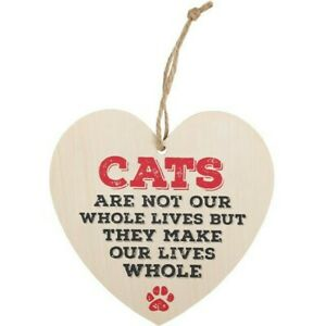 Cats Are Not Our Whole Lives Hanging Heart Sign Great Gift For The Cat Lover