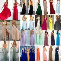 Women's Convertible 15 Wear Ways Wrap Bandage Dress Bridesmaid Party Long Dress
