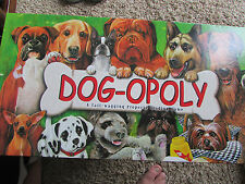 Dog-opoly Monopoly property trading game The game of high steaks and bones