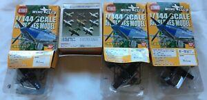 Four (4) Bandai Wing Club L Part 2 F6F Hellcat US Navy