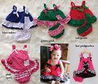 Baby Girls Trapeze Dress + Ruffle Bloomer 2 Piece Summer Cotton Set Size 0.1.2