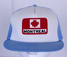 Montreal Canada Blue White Mesh Snapback Hat Trucker Cap