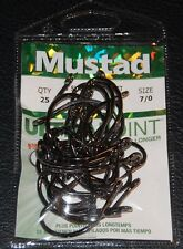 25 Pack Mustad 9174NPBN-70 Size 7/0 3X Short 2X Strong Live Bait Hooks