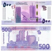 SUDAN (North) 500 Pounds aUNC Banknote (March 2019) P-NEW Prefix JF Paper Money