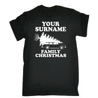 Men's YOUR TEXT PERSONALISED Family Christmas Funny x-mas T-SHIRT