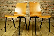 60er Vintage Esszimmer Stuhl Industriedesign Holz Stapelstuhl Nussbaum Loft