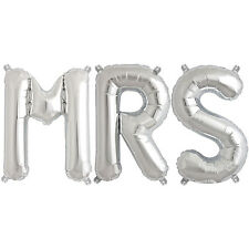 Party Supplies Silver 41cm Foil Letters Balloon 'MRS' Wedding Engagement