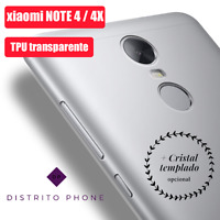 Funda de Gel TPU para Xiaomi Redmi Note 4 4X + Protector Cristal Templado 9H+