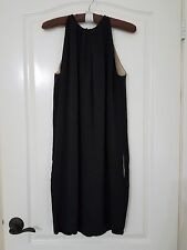 AUTH CELINE Made in France Black Silk Sleeveless Dress Size 40 NWOT