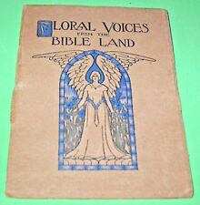 1903 Book Floral Voices From The Bible Land Mini Booklet / 5 different Flowers