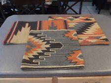 "NEW RARE 3PC Pottery Barn Alder Kilim Pillow Covers - 16""x26"" Lumbar, 20"" & 24"""
