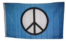 World Peace Sign Symbol Aqua SuperPoly 3x5 Flag Banner indoor/outdoor grommets