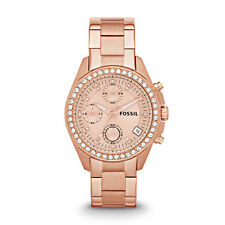 *BRAND NEW* Fossil Women's Chronograph Rose Gold-Tone Watch ES3352