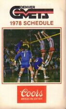 1978 Denver Comets Volleyball Schedule jhxb