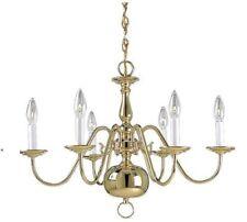Very nice New 6 Light Polished Brass Chandelier
