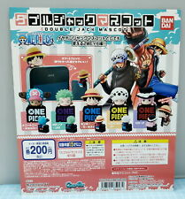 One Piece Figure Cell Phone Plug With Holder Complete 5pcs- Bandai