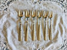 Antique Embossed Seafood or Cocktail forks