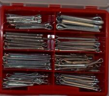 Splinte-Sortiment DIN 94 verzinkt, 116-teilig Hochwertig , groß Rote  Box, Neu!