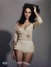 Kaya Scodelario Signed 11x14 Photo Beckett *English Actress B12024