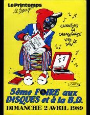 BOURGES (18) PRINTEMPS de BOURGES / FOIRE aux DISQUES & à la B.D. en 1989