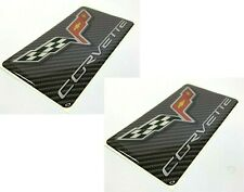 Pair Visor Warning Label Covers for C6 Chevrolet Corvette W/ Emblem (Adhesive)