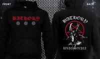 BATHORY-Black metal, Thrash metal-Mayhem-Venom-Immortal, Hoodie-sizes:S to XXL