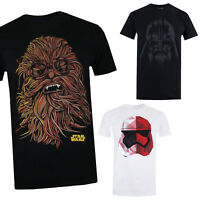 Star Wars Men's T-Shirt - Trooper, Chewie, Darth Vader, Kylo - Official Licensed