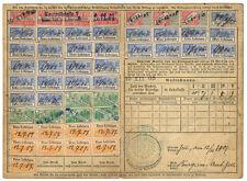 (I. B) la france recettes: ALSACE-LORRAINE Health & pensions (complet carte)