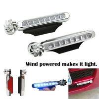 Wind Powered 8 LED Car DRL Daytime Running Light Fog Warning Auto Head SPFR