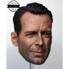 "1/6 Scale Bruce Willis Head Sculpt Die Hard for 12"" Action Figure"
