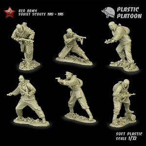 Plastic Platoon Toy Soldier WWII Red Army Soviet Scouts 1943-1945 New 2021