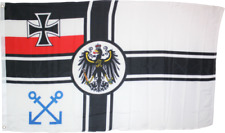 1871 GERMAN IMPERIAL NAVY PILOT BANNER 3X5 DEUTSCHLAND IRON CROSS FLAG HISTORIC