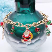 Christmas X-mas Charm Bracelet Tree Elk Santa Claus Bracelets Christmas Gifts