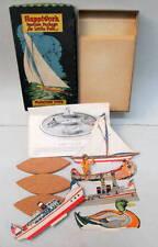 1924 Happiworks FLOATINGTOYS Boat Set mint in box Gibson Art Co.
