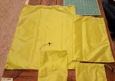 Jimmy Tarps Set 4 Stuff Sacks-Waterproof UL Sil Poly Olive Yellow NEW