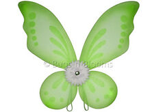 Butterfly Wings Green Tinkerbell Fairy Costume Girls Pixie Kid Toddler 2-8 Years