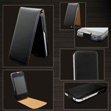 Flip Cover Tasche für Apple iPhone 4 4S Kunstleder Hülle Case mit Schutzglas 9H