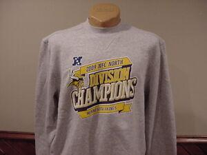 SWEET Minnesota Vikings Adult Md '09 Cent Div Champs Reebok Sweatshirt, NICE!!