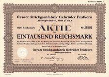 Geraer Strickgarnfabrik Gebrüder Feistkorn AG, Gera Thüringen 1941