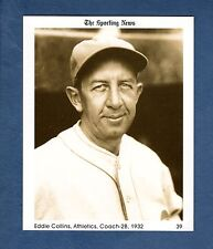 #39 Eddie Collins, 1932 Athletics/A's (1981 The Sporting News Conlon Collection)