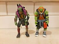 TMNT Movie Michelangelo Donatello Playmates 2014 2015 Action Figure Lot