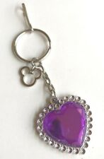 Mickey Mouse Ears Purse Charm Keychain Heart Zipper Pull Disney Disneyana USA